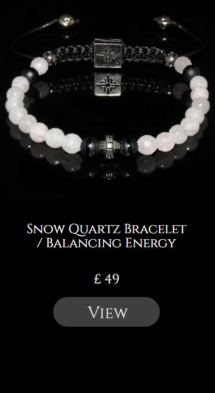 Snow Quartz Bracelet / Balancing Energy