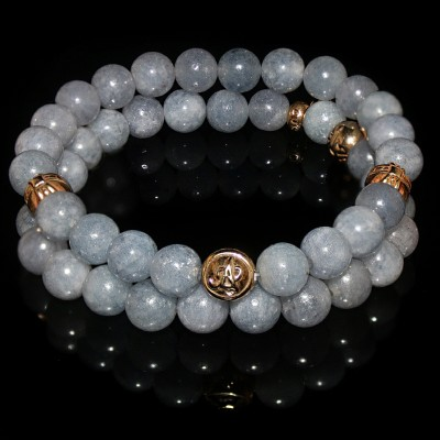 Aquamarine Double Bracelet / Treasure of Mermaids