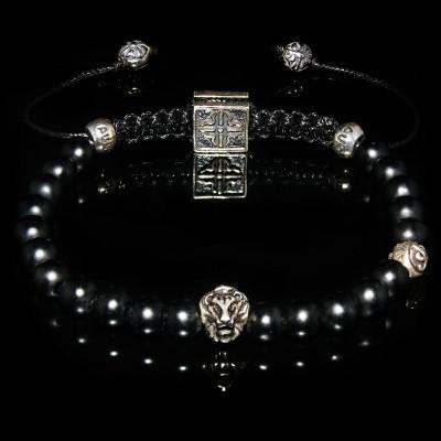 Lion & Onyx Bracelet /  Focus- Discipline-Self-Mastery