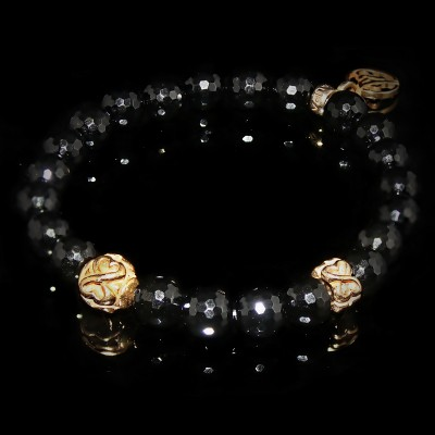 Black Onyx Bracelet / Objectiveness - Spirituality - Meditation