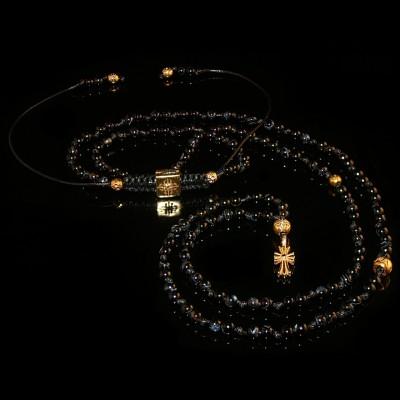Agate Necklace / Faith -Hope-Love