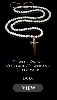 Howlite Sword Necklace / Power and Leadership