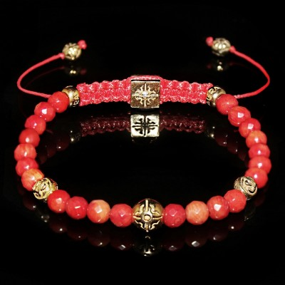 Red Coral Bracelet   Metabolism - Balance - Harmony