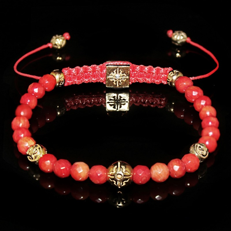 mm round red bracelet golden ss sandal star handicraft industries padam beads bracelets elastic wooden wood