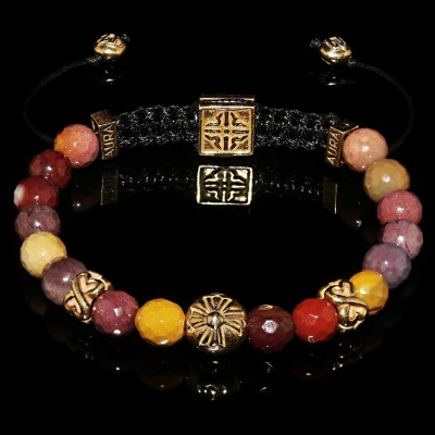 Mookaite Jasper Bracelet  / Slows Aging - Protective - Encourages