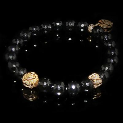 Black Onyx Bracelet Objectiveness - Spirituality - Meditation