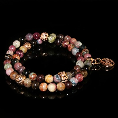 Tourmaline Wrap Bracelet /  Flexibility - Balance - Happiness