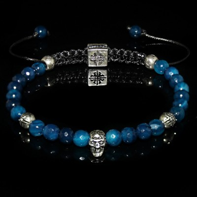 Blue Agate Bracelet / Wisdom-Confidence-Prosperity