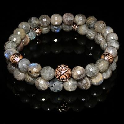 Labradorite Double Bracelet / Serenity - Clarity - Imagination