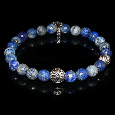 Blue Lapis  Lazuli  Bracelet   Intuition - Self-esteem