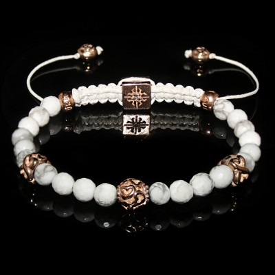 Howlite Gold Bracelet / Relaxation-Patience-Memory