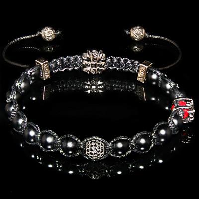 Black Onyx Faith Bracelet /  Strength - Self-control