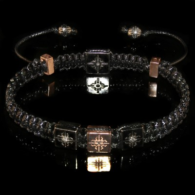 Logo Lock Macrame Bracelet  /  Purity - Strength - Clarity